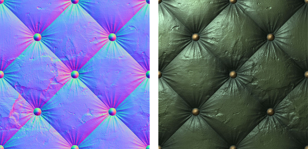 Figure 70 Blended Normal And Detail Map Left And Resulting